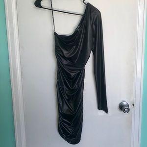 Forever 21 NWT Black One Shoulder Dress